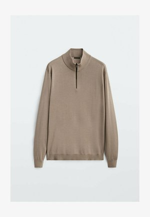 MERINO WITH MOCK NECK  - Sweatshirt - beige