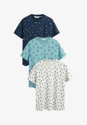 THREE PACK - Camiseta estampada - blue