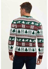 DeFacto - NEW YEAR - Stickad tröja - bordeaux - 1