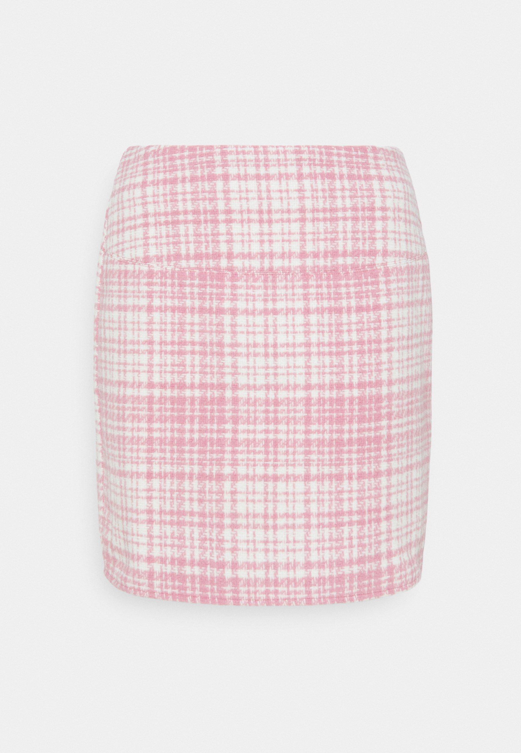 Women BRUSHED CHECK MINI SKIRT - Mini skirt
