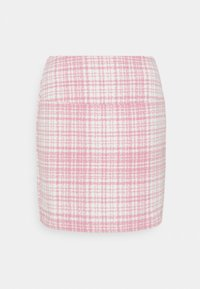 Missguided - BRUSHED CHECK MINI SKIRT - Mini skirt - pink - 0