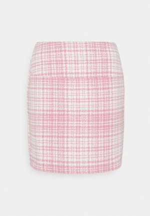 BRUSHED CHECK MINI SKIRT - Miniskjørt - pink
