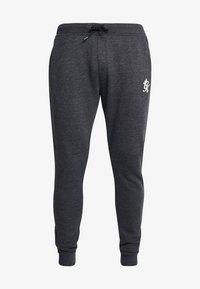 Gym King - CREA TRACKSUIT BOTTOMS - Pantalones deportivos - charcoal marl/green mist/white - 3