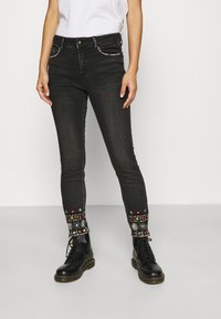 Desigual - LESLIE - Jeans Skinny Fit - denim black wah - 0