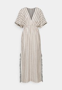 Tory Burch - STRIPED CAFTAN - Maxi dress - ivory/anise brown - 4
