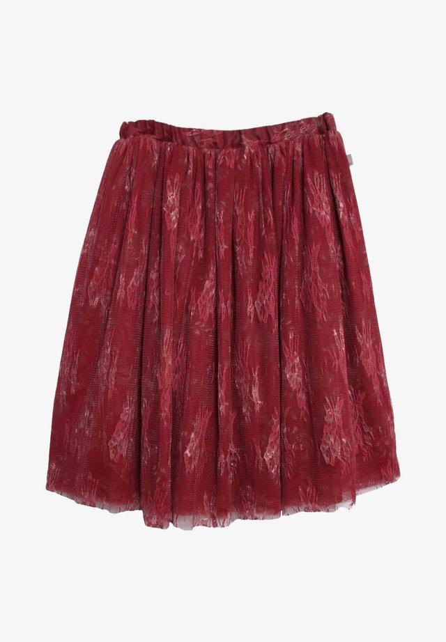 A-line skirt - dark berry