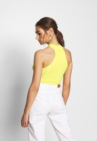 Missguided - RACER NECK RIBBED BODYSUIT - Top - yellow - 2