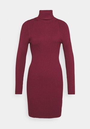 ONLELLY ROLLNECK DRESS - Jumper dress - tawny port