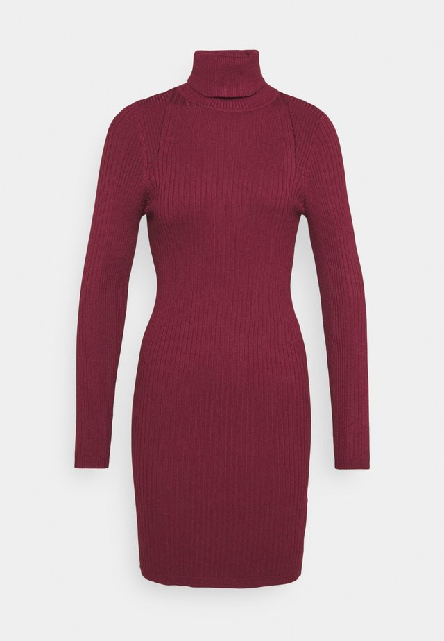 ONLELLY ROLLNECK DRESS - Jumper dress - tawny port