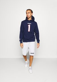 Fanatics - NFL CAM NEWTON NEW ENGLAND PATRIOTS ICONIC NAME NUMBER GRAPHIC - Hoodie - navy - 1