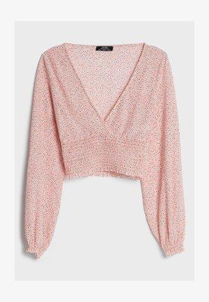 MIT V-AUSSCHNITT - Blouse - pink