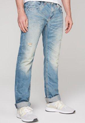 MIT VINTAGE LOOK - Straight leg jeans - vintage blue