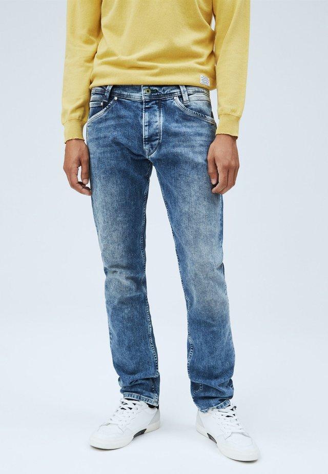 SPIKE - Straight leg jeans - denim