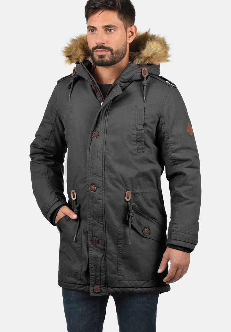 Solid - WINTERJACKE CLARKI TEDDY - Winter coat - dark grey