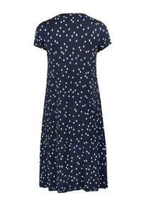 Live Unlimited London - Day dress - dark blue / white - 4
