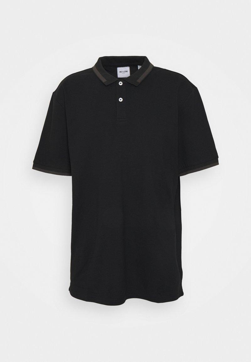 Only & Sons - ONSMILLENIUM LIFE SLIM - Polo shirt - black