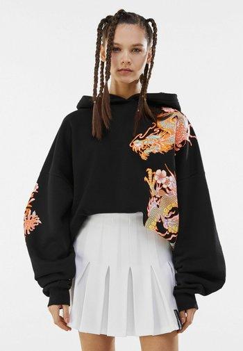 MIT KELLERFALTEN - Pleated skirt - white