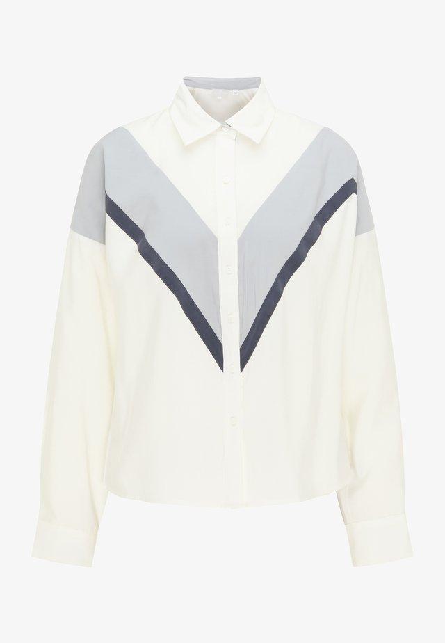 Camisa - weiß grau marine