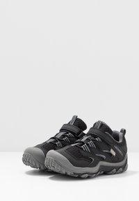 Merrell - CHAMELEON 7 LOW WTRPF - Hiking shoes - black/grey - 3