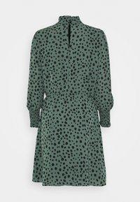 ONLY - ONLJENNA HIGHNECK SHORT DRESS - Kjole - chinois green/black - 1