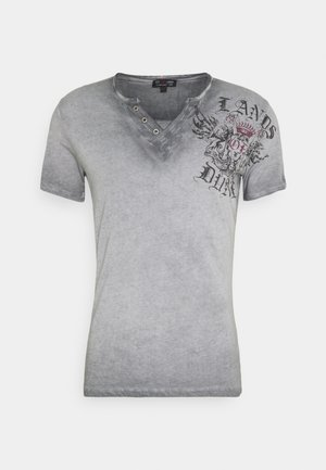 RIDING BUTTON - T-shirts med print - anthracite