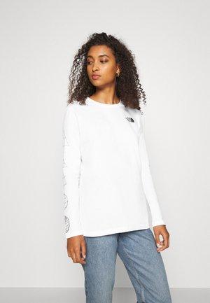GEODOME TEE - Bluzka z długim rękawem - white