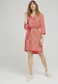 TOM TAILOR - Day dress - red white ethno design - 1