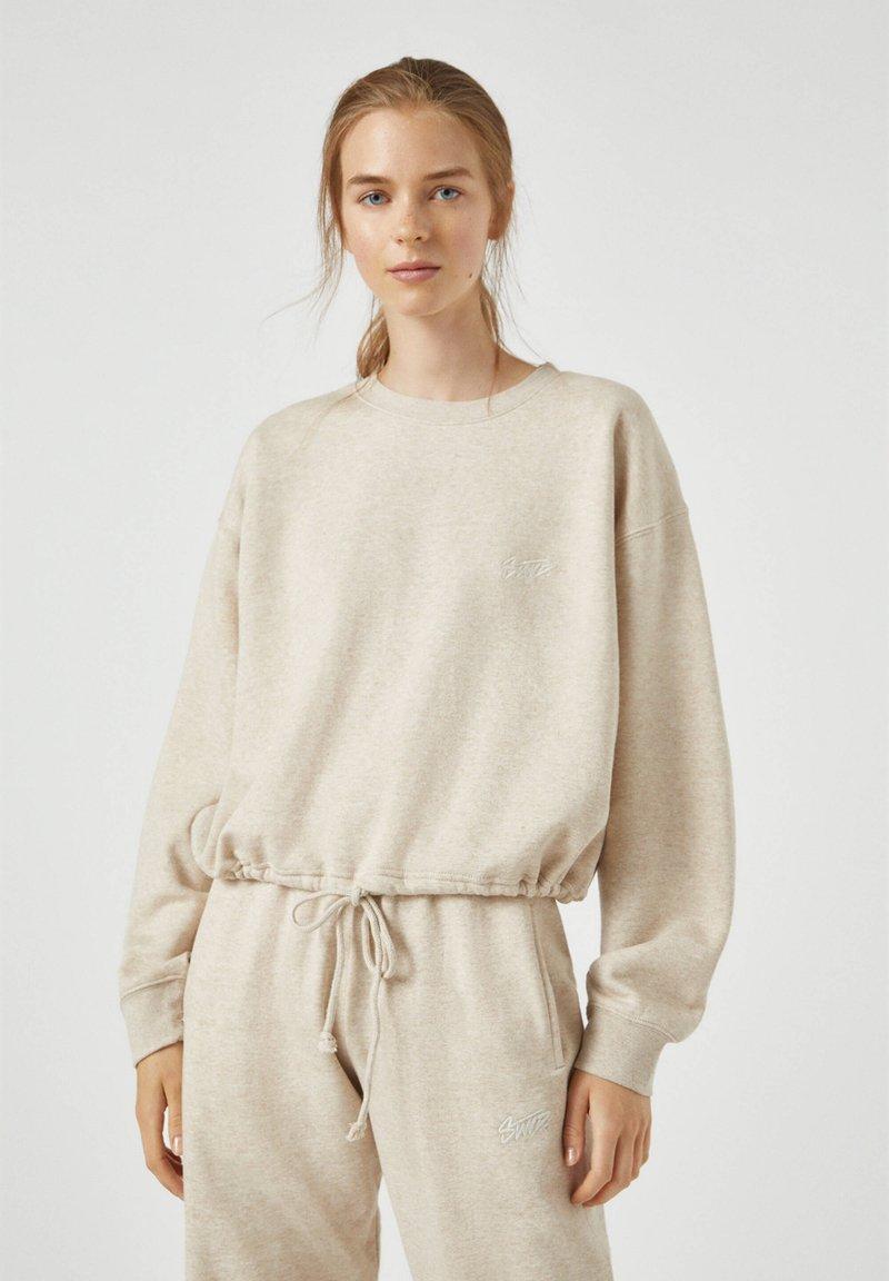 PULL&BEAR - Sweatshirt - beige