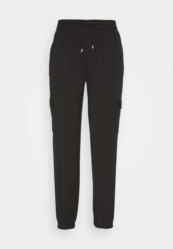 ONLNEVIE SONJA LIFE  STRING PANT - Trousers - black
