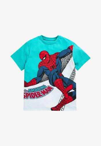 spider man - Triko spotiskem - teal