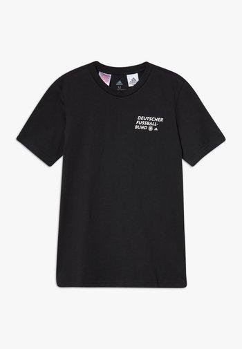 DFB DEUTSCHLAND KIDS TEE UNISEX - Camiseta estampada - black