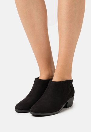 WIDE FIT LOW  - Ankle boots - black