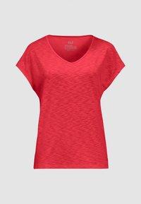 Jack Wolfskin - TRAVEL T W - Basic T-shirt - tulip red - 2