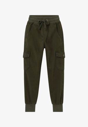 GIRLS JOGGER - Cargo trousers - army green reactive