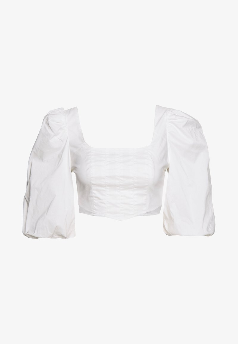 Missguided - PUFF SLEEVE CORSET - Blouse - white