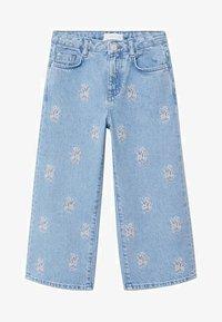 Mango - Široké džíny - bleu moyen - 0