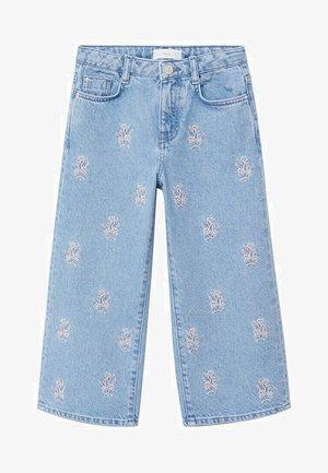 Široké džíny - bleu moyen