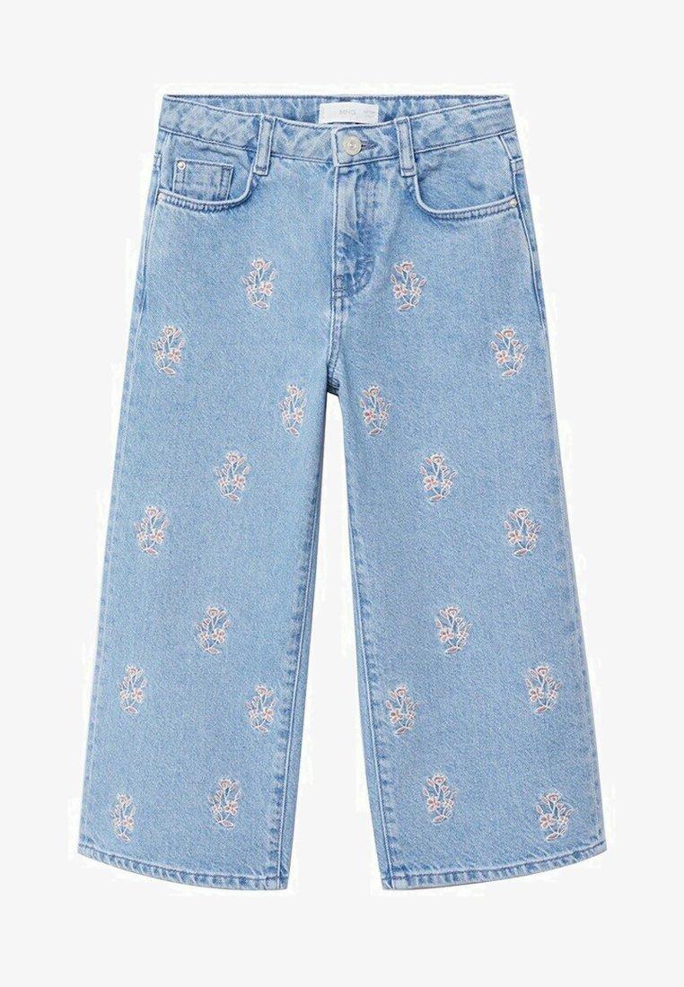 Mango - Široké džíny - bleu moyen