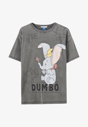 T-shirt imprimé - mottled dark grey