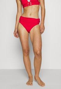 Pour Moi - SANTA MONICA FOLD OVER TIE BRIEF - Bikinibroekje - red - 0