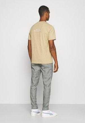 CAMONT - Kalhoty - black/white check