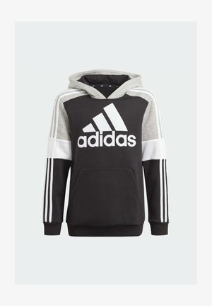 ADIDAS ESSENTIALS COLORBLOCK HOODIE (GENDER NEUTRAL) - Felpa con cappuccio - black