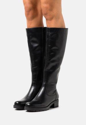 LEATHER  - Vysoká obuv - black