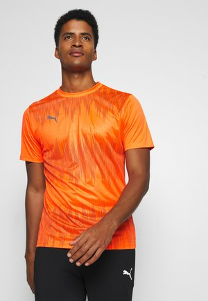 GRAPHIC CORE - Sports shirt - shocking orange/asphalt