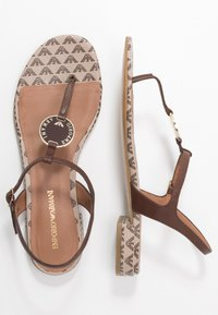 Emporio Armani - T-bar sandals - testa di moro/ecru - 1