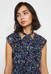 Lauren Ralph Lauren Petite - MARIKA  SLEEVE DAY DRESS - Day dress - navy blue - 4