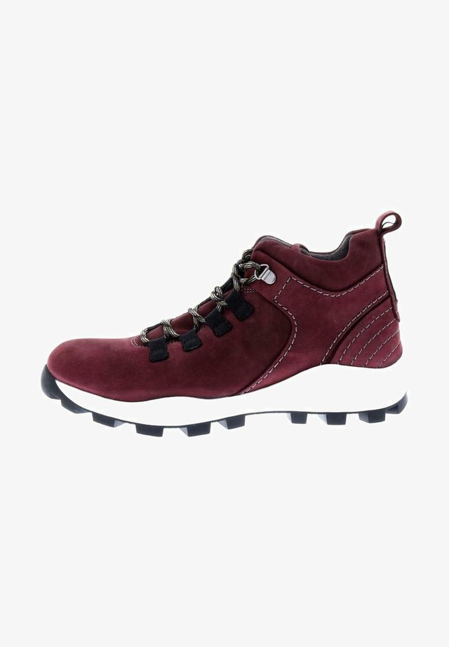 Lace-up ankle boots - oxblood