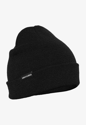 BASIC FLAP - Beanie - black