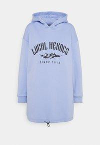 Local Heroes - TRIBAL HOODIE DRESS - Korte jurk - blue - 0