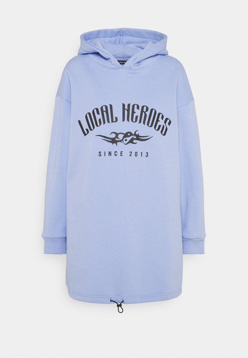 Local Heroes - TRIBAL HOODIE DRESS - Korte jurk - blue